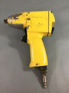 Snap On Im31 3 8 Drive Pneumatic Air Impact Wrench Gun Tool Good Used Yellow