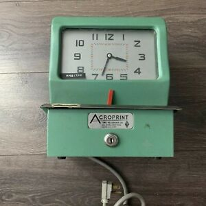 Emmons napp Acroprint Time Recorder Time Punch Machine 150nr4 Works