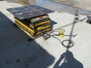 2000 Lb Southworth Portable Scissor Lift Table Spin Top 48 X 48 3 Phase