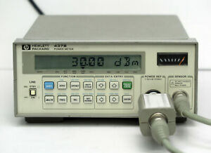Hp Keysight 437b Power Meter With 8481b Sensor 11730a Cable 10mhz 18ghz