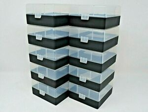 BERRY'S PLASTIC AMMO BOXES (10) CLEAR-BLACK 100 ROUND 223  5.56 NEW ITEM $52.00