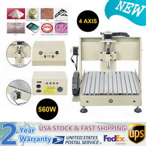 4 Axis 3040 Cnc Router Engraver Machine Drill Mill 560w Wood Metal Working Cut