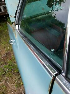 1970 Cadillac Deville 4dr Hardtop Rh Passenger Rear Upper Door Chrome Trim