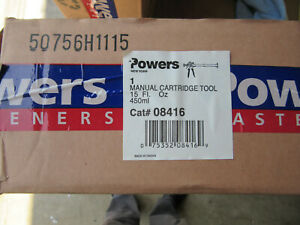 Powers 08416 Epoxy Injection Cartridge Tool New In Box