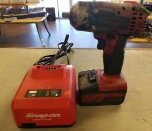 Snap On Cordless 18v Ct8810a 3 8 Impact Wrench W 18v Li Ion Battery
