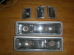 Parking Corner Marker Light Lamps For Gmc Truck Suv 5 Total 1994 2001 Clear