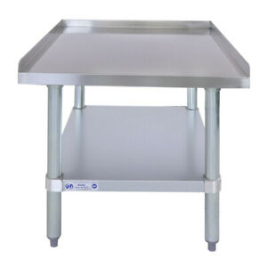 24 X 24 18 gauge Stainless Steel Equipment Stand With Undershelf