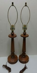 Mid Century Modern Tell City Indiana Lamp Pair