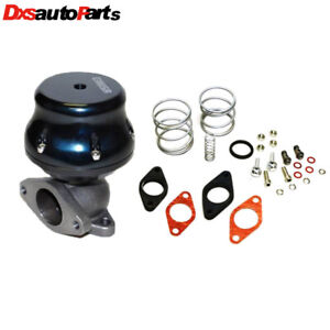Universal Black 2 Bolt External 38mm Turbo Wastegate Bypass Exhaust 1 6 8 7 Psi