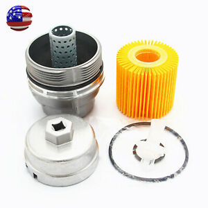 Genuine Oil Filter Housing Cap 15620 31060 With Cap Plug And Wrench For Toyota