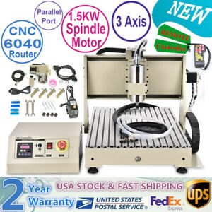 1 5kw 3 Axis Cnc 6040 Router Engraving Machine Wood Metal Pcb Artwork Diy Cutter