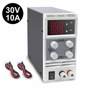 Adjustable Variable Switching Regulated Digital Power Supply With Alligator Lead