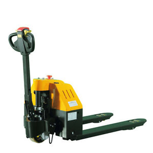 Full Electric Power Pallet Jacks 3300 Lb Cap 27 X 45 Forks 24 V