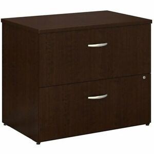 Series C 2 Drawer Lateral File Cabinet In Mocha Cherry Engineered Wood