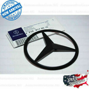 Fit For Mercedes W212 Matte Black Star Emblem Rear Trunk Lid Logo E Class