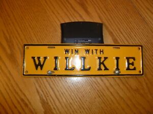 Win With Willke License Plate Topper