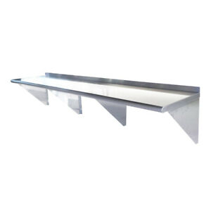 Toolots 18 Gauge Stainless Steel 12 X 96 Heavy Quality Wall Shelf
