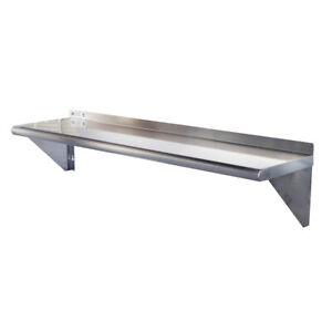 Toolots 18 Gauge Stainless Steel 12 X 48 Heavy Quality Wall Shelf