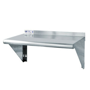 Toolots 18 Gauge Stainless Steel 12 X 24 Heavy Quality Wall Shelf