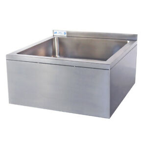 25 16 ga Ss304 One Compartment Floor Mop Sink 20 X 16 X 12 Bowl