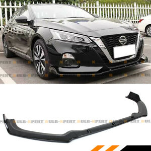 For 2019 2020 Nissan Altima Vip Glossy Black Front Bumper Lip Spoiler Splitter