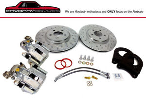 87 93 Rear Mustang 8 8 5 Lug Brake Conversion For Fox Axle Length
