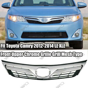 Fit Toyota Camry 2012 2014 Le Xle Front Upper Chrome Grille Grill Mesh Type