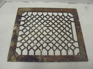 Rusty Cast Iron Furnace Air Grate Fits 10 X 12 Opening Yard Fence Garden Decor