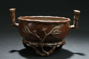 A Tri Podded Chinese Copper Craft Censer