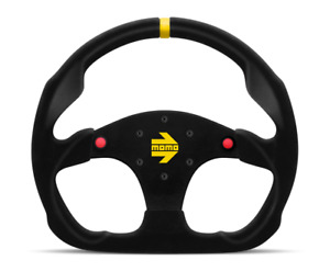 Momo Steering Wheel Mod 30 With Buttons Black Suede 320mm Free Momo Suede Brush