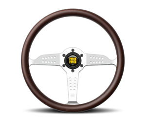 Momo Super Grand Prix Steering Wheel Mahogany Wood Chrome Spoke Gra35wd0p