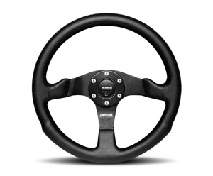 Momo Competition Steering Wheel Black Leather 350mm Momo Hub Adapter For Jeep