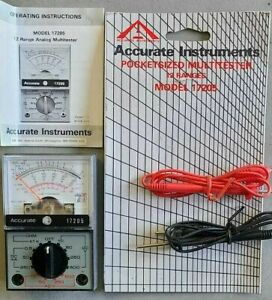Nos Analog Multi tester Analogue Meter Multimeter Ohm Electrical Circuit Tester