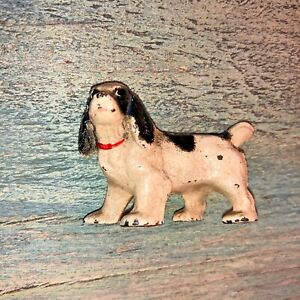 Antique Hubley Dog Cast Iron Spaniel Hunting Pup Paperweight Figurine 2