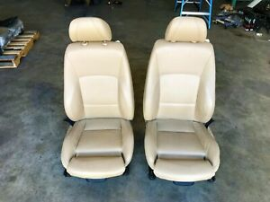 06 07 08 Bmw E90 328i 335i Front Left Right Sport Seat Beige Tan Leather Pair