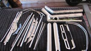 Lot Of Vintage Oem Ford 1964 Thunderbird Dash And Console Chrome Trim
