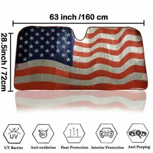 American Flag Car Windshield Sun Shade Sunshades Sun Shade Uv Ray Visor Protect