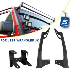 52 Led Light Bar Mount Brackets Dual Deck Mount Brackets For Jeep Wrangler Jk
