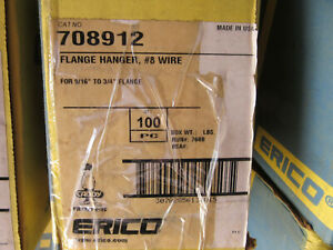 100 Erico Caddy 708912 Flange Hanger 8 Wire For 7 16 3 4 Flange New