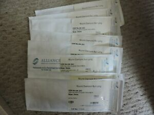 Alliance Zb 262 Round Diamond Bur Long 3mm Oem Zb 262 Lot Of Eight Unopened