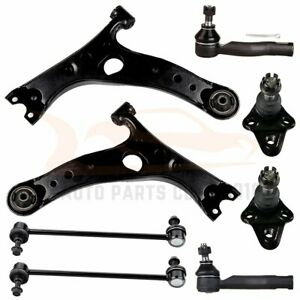 8pc Front Lower Suspension Kit Sway Bar Control Arms For 2001 2005 Toyota Rav4