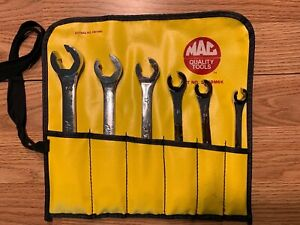 Vintage Mac Tools Metric Flare Nut Line Wrench Set 6pc