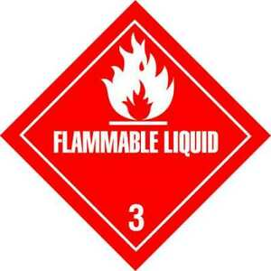 Tapecase 16u813 4 X 4 Adhesive Back Shipping Labels Flammable Liquid Pk500