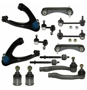 14 New Pc Suspension Kit For Honda Cr V Tie Rod Ends Front Rear Control Arms