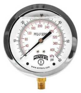 Winters Pfq710lf Gauge pressure 4in 0 To 60 Psi