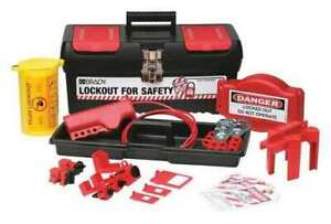 Brady 105954 Portable Lockout Kit 18 electrical valve