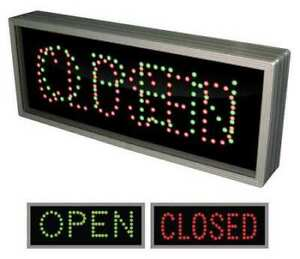 Tapco 108968 Led Sign open closed green Or Red black