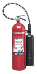 Badger B15v Fire Extinguisher 10b c Carbon Dioxide 15 Lb