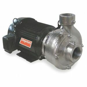 Dayton 12a055 Stainless Steel 2 Hp Centrifugal Pump 208 230 460v