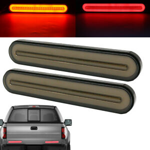 Car Drl Led Light Bar Brake Sequential Flowing Turn Signal Stop Tail Strip Lamp